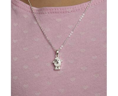 Dětský stříbrný náhrdelník Ovečka KO8030_BR030_40_RH  (řetízek, přívěsek)