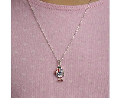 Dětský stříbrný náhrdelník Robot KO8066_BR030_40_RH  (řetízek, přívěsek)