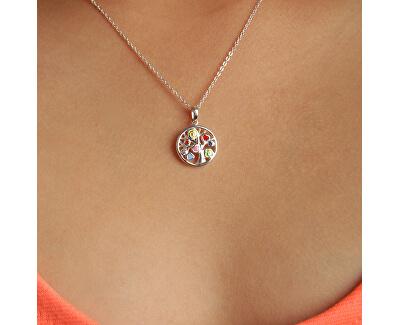 Dětský stříbrný náhrdelník Veselý strom KO8057_BR030_40_RH  (řetízek, přívěsek)