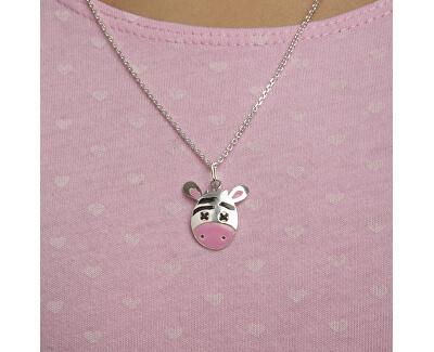 Dívčí stříbrný náhrdelník Zebra KO0978_MO040_40_RH  (řetízek, přívěsek)