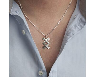 Pánský stříbrný náhrdelník Inguz KO5003_MO060_50_RH  (řetízek, přívěsek)