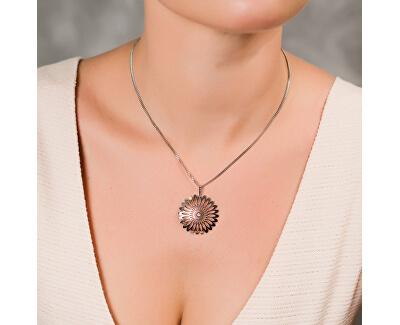 Stříbrná sada šperků Shining Blossom KO0941M_CU040_50_NA0517_RH  (přívěsek, řetízek, náušnice)