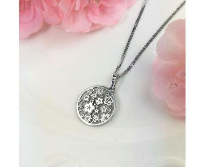 Stříbrný náhrdelník Magic Sakura KO5039_CU035_49_RH  (řetízek, přívěsek)