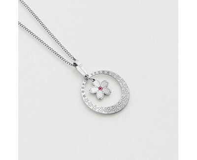 Stříbrný náhrdelník s krystalem Spring Flowers KO5036_CU035_49_RH  (řetízek, přívěsek)