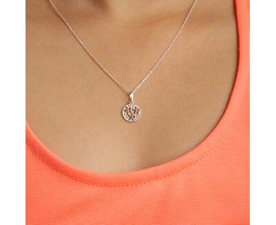 Stříbrný náhrdelník s krystaly KO1853_BR030_45_RH  (řetízek, přívěsek)