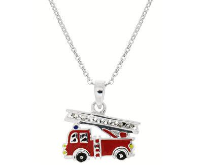 Dětský stříbrný náhrdelník Hasiči KO8055_BR030_40_RH  (řetízek, přívěsek)
