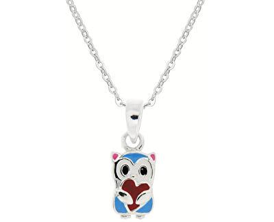 Dětský stříbrný náhrdelník Medvídek KO8059_BR030_40_RH  (řetízek, přívěsek)