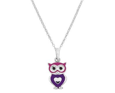 Dětský stříbrný náhrdelník Sovička KO8037_BR030_40_RH  (řetízek, přívěsek)