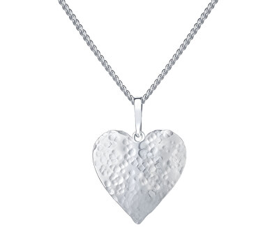 Romantický stříbrný náhrdelník Cora KO6095_CU050_45_RH  (řetízek, přívěsek)