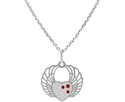 Romantický stříbrný náhrdelník Srdce KO5134_MO040_45_RH  (řetízek, přívěsek)