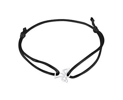 Šňůrkový černý kabala náramek Andělíček KA6167
