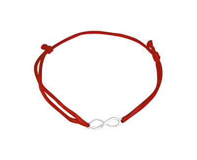 Šňůrkový červený kabala náramek Nekonečno KA6184