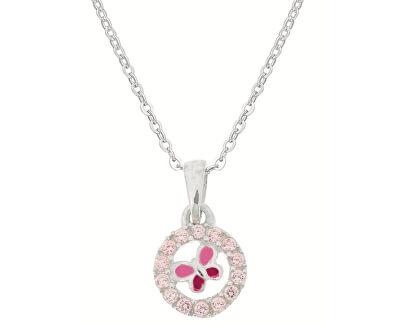 Stříbrný třpytivý náhrdelník Něžná chvíle KO8068_BR030_40_RH  (řetízek, přívěsek)