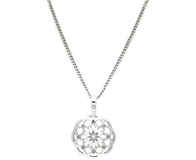 Stylový stříbrný náhrdelník Heartbeat KO1415_CU035_49_RH  (řetízek, přívěsek)