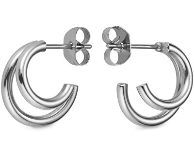 Dámské kruhové náušnice Double Hoop Small DHES-J226