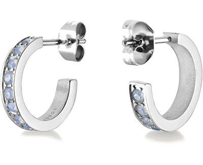 Kruhové náušnice s kamínky Raye JSHSCS-J250