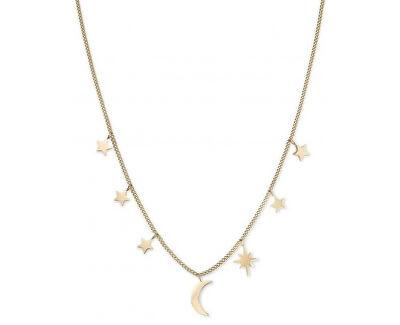 Pozlacený náhrdelník Multi Stars and Moon MUSNG-J211