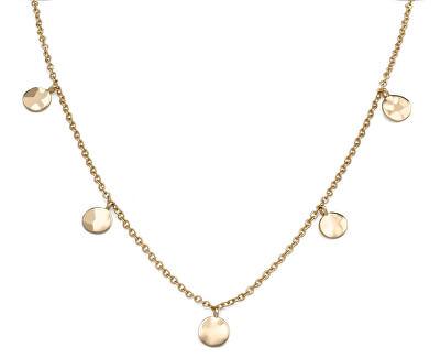 Pozlacený ocelový náhrdelník s penízky Iggy JTCWG-J096
