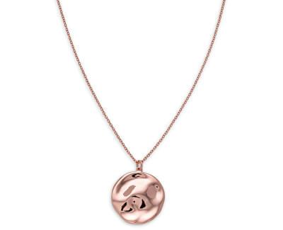 Ružovo pozlátený oceľový náhrdelník Iggy JTXCR-J079