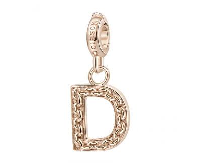 Pandantiv placat cu aur Letter D RZ082