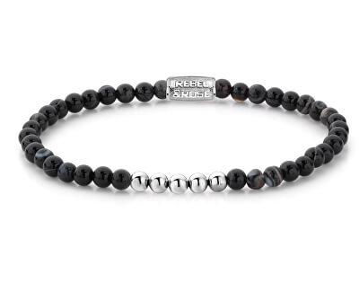 Ocelový náramek Black Velvet RR-40023-S
