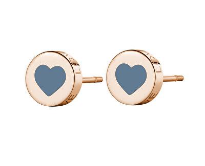 Moderné oceľové náušnice srdce LOVE SCK55