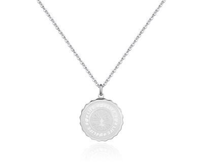 Ocelový náhrdelník Life Coin SKY07