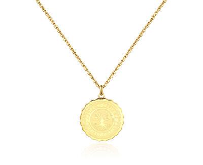 Oceľový náhrdelník Life Coin SKY08