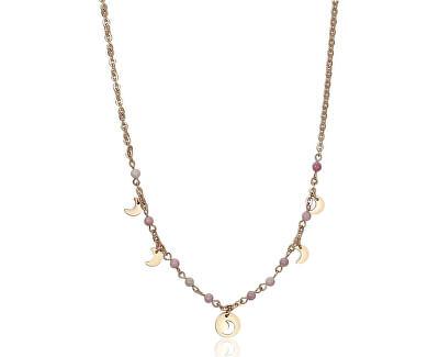 Oceľový náhrdelník s polmesiaci Haiti SHT05