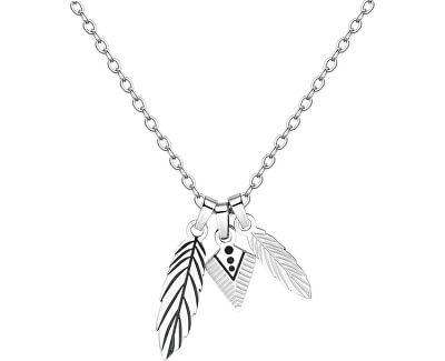 Pánsky náhrdelník s pierkami India SIN05