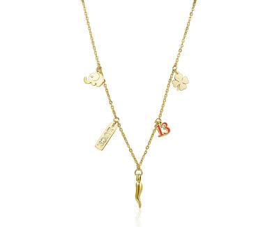 Pozlacený náhrdelník pro štěstí Get Lucky SGY04