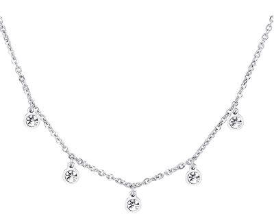Třpytivý ocelový náhrdelník Luce SCE01