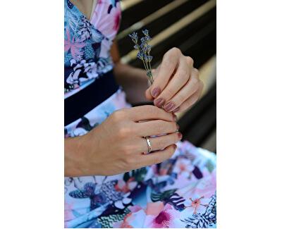 Jemný prsten s čirými zirkony SC266