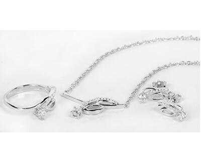 Stříbrný náhrdelník se zirkony SC234