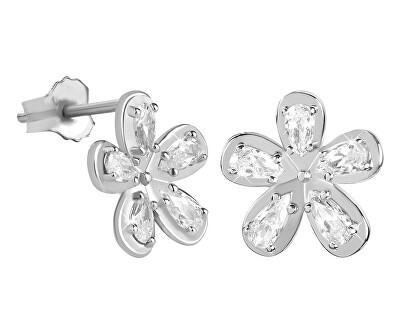 Gyönyörű ezüst fülbevalók cirkóniával SC301