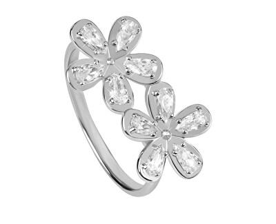 Gyönyörű ezüst gyűrű cirkóniákkal SC299
