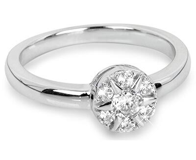 Silver Cat Strieborný prsteň Kvetina so zirkónmi SC206