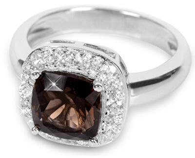 Silver Cat Stříbrný prsten s krystalem SC130