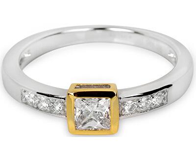 Stříbrný prsten s krystaly SC166