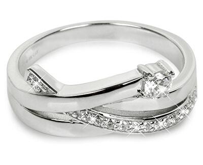 Silver Cat Strieborný prsteň so zirkónmi SC203