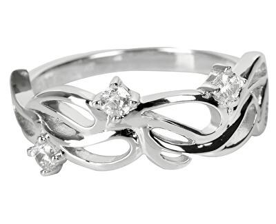 Inel de argint cu zirconiu cubic SC227