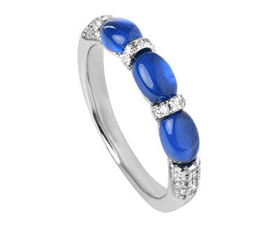 Lenyűgöző ezüst gyűrű cirkóniákkal SC306