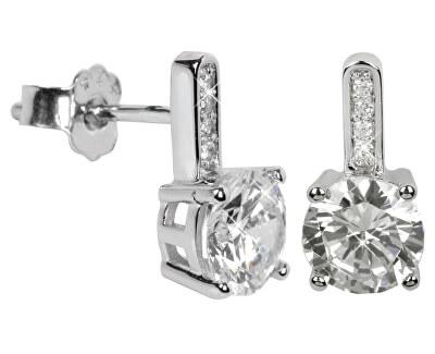 Stříbrné náušnice s krystaly SC033