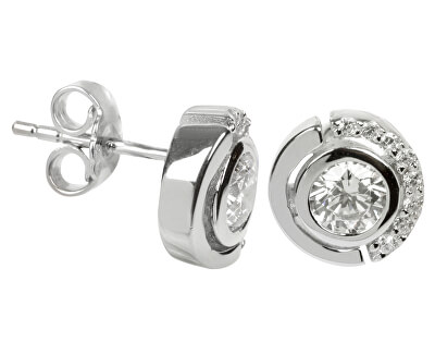 Silver Cat Stříbrné náušnice s krystaly SC081