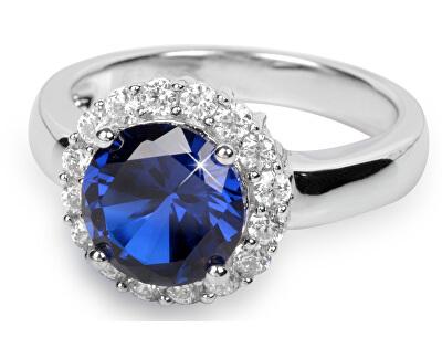 Stříbrný prsten s krystaly SC022
