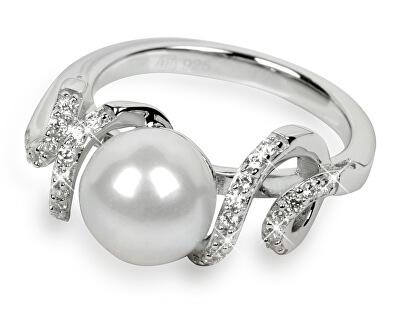 Stříbrný prsten s krystaly SC028