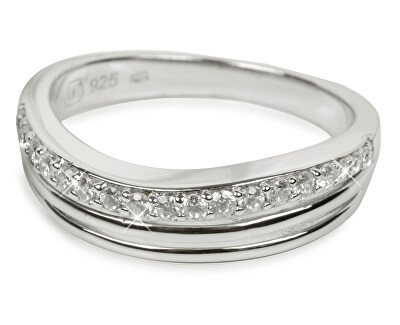 Silver Cat Stříbrný prsten s krystaly SC037