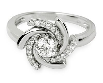 Stříbrný prsten s krystaly SC040