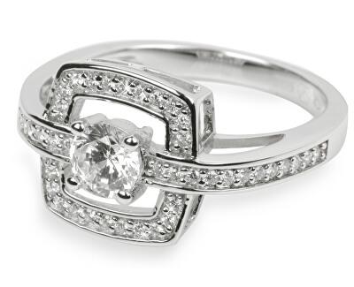 Stříbrný prsten s krystaly SC046