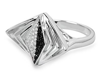 Stříbrný prsten s krystaly SC049